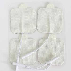 سلك كهربائي وسادات القطب الكهربائي ، نوع مربع مع الأذنTENS