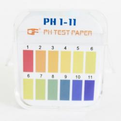 ورقة اختبار درجة الحموضة 1-14 ، لونان