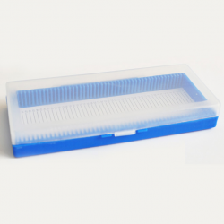 صندوق تخزين شرائح ميكروسكوب 50 قطعة