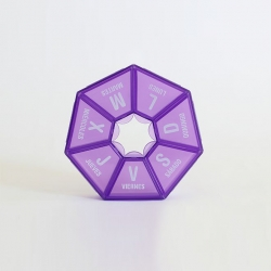 صندوق الدواء بلاستيكية ملونة