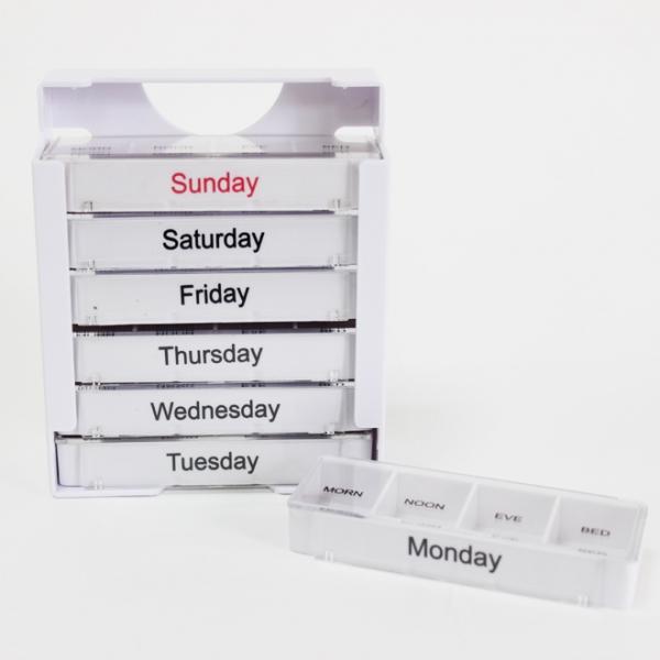 صندوق اتادواء زر بلاستيك   28 حالة حبوب منع الحمل  ل7أيام