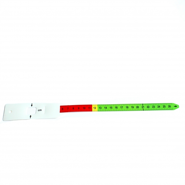شريط قياس محيط منتصف الذراع ، شريط MUAC